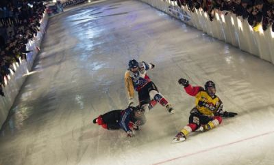 Red Bull Crashed Ice Moskau 2014.
